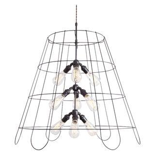"30"" Vintage Lampshade Chandelier - Large (9 Bulb)"