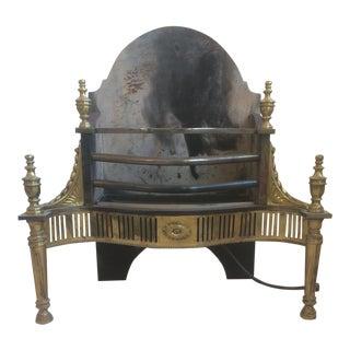Brocklebank Cast Iron and Brass Fireplace Insert