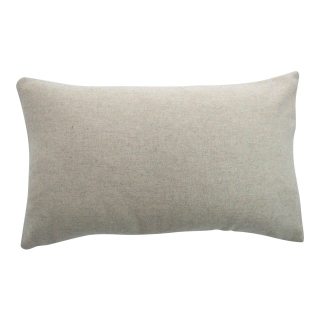 Italian Cream Sustainable Wool Lumbar Pillow - Image 1 of 5