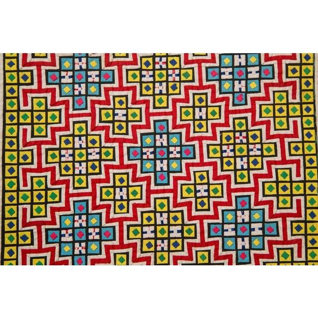 Handwoven Vietnamese Quilt - Image 7 of 8