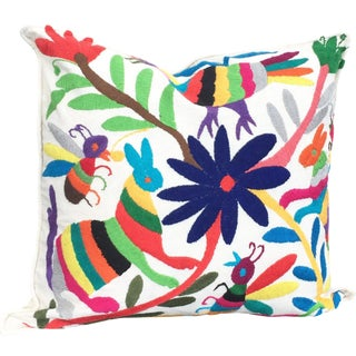 Multicolor Otomi Mexican Pillowcase