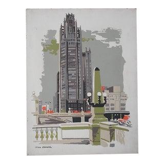 Vintage Mark Coomer Screenprint, Chicago