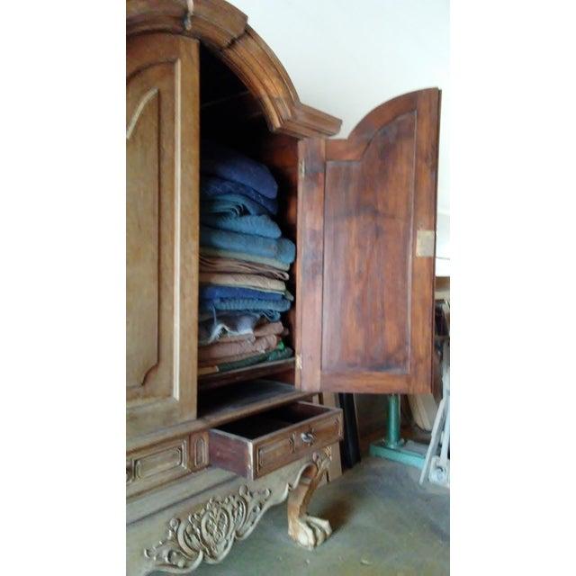 Large Mahogany Blanket Armoire - Image 5 of 5