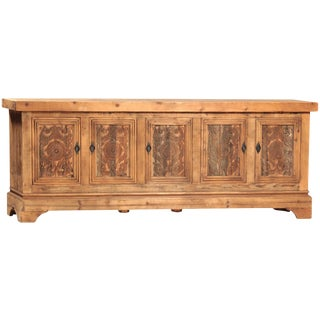 Carved Wood Buffet Cabinet