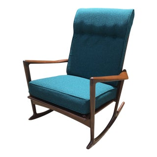 Selig for Ib Kofod Larsen Mid-Century Danish Rocking Chair