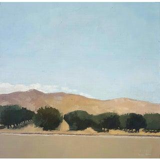 Almond Trees & Mountain Original Oil Painting