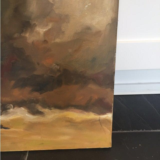 Image of Vintage Original Abstract Impressionist Painting