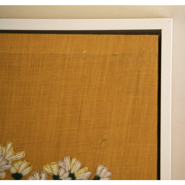 Framed Vintage Flower Needlepoint - Image 4 of 5