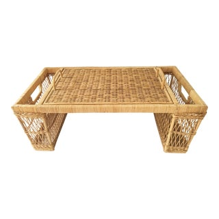Vintage Wicker Bed and Breakfast Tray