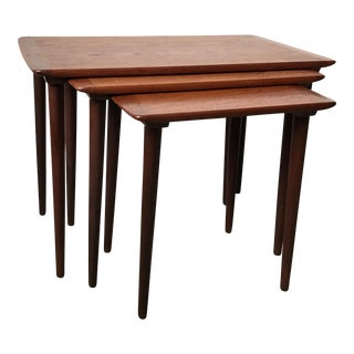 Torpe Danish Mid Century Teak Nesting Tables - Set of 3