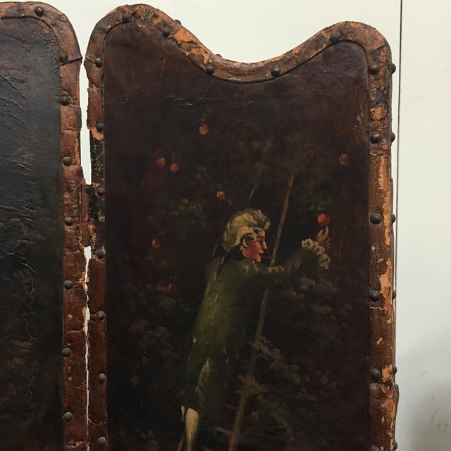 Antique Painted Fireplace Screen - Image 4 of 9