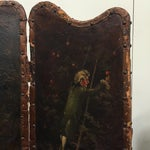 Image of Antique Painted Fireplace Screen