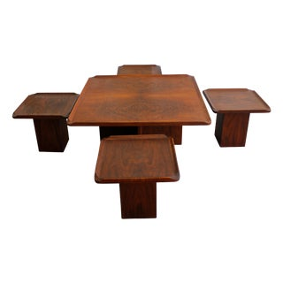Brown & Saltman Coffee Table with 4 Side Tables