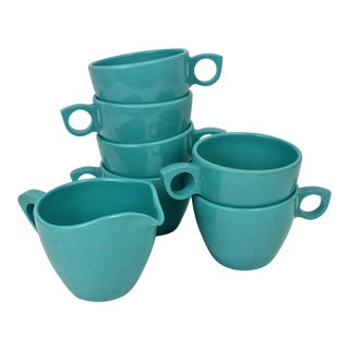 Turquoise Prolonware Coffee Cups - Set of 6