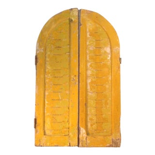 Rustic Arch Top Shutters - a Pair