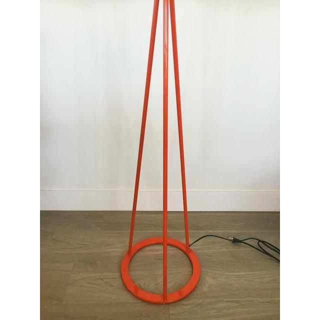Modern orange metal floor lamp chairish for Orange metal floor lamp