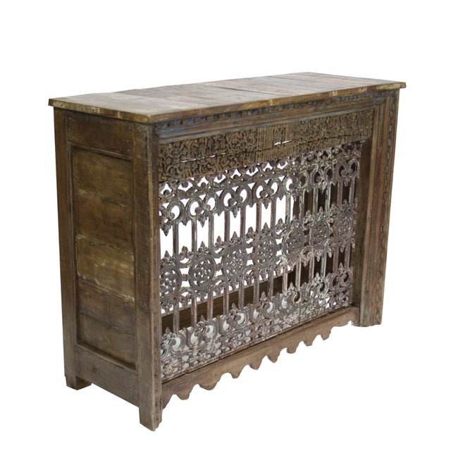 Vintage iron balcony console chairish for Balcony console