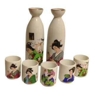 Japanese Kafuh Geisha Saki Set