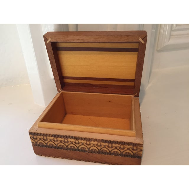 Image of Vintage Carved Trinket Box