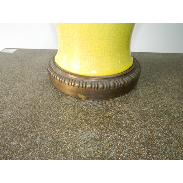 Yellow Crackled Table Lamp - Image 3 of 5
