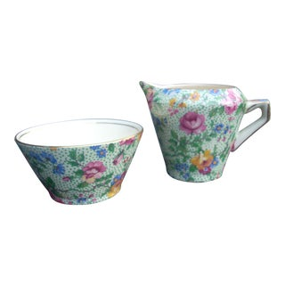 Royal Winton Chintz Sugar & Creamer - A Pair