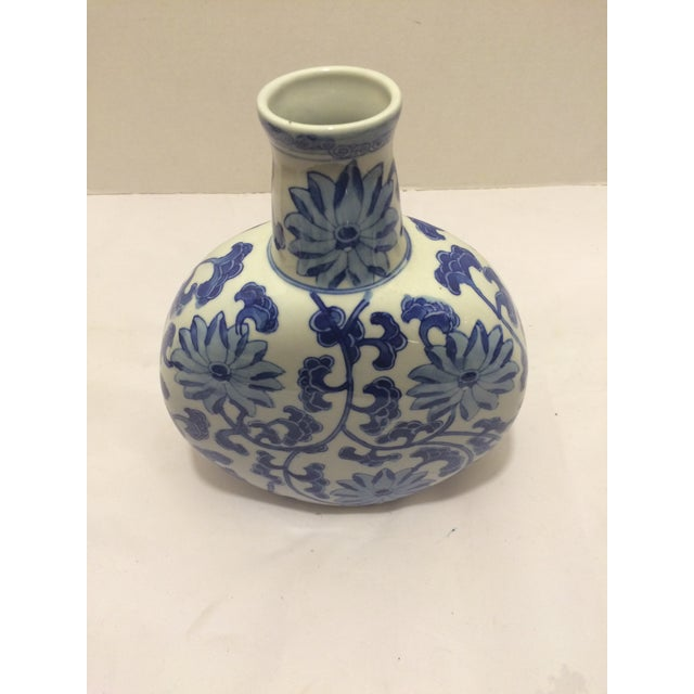 Chinosorie Vase in Blue with Floral Details - Image 3 of 6