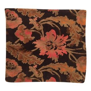 Velvet Black and Pink Pillow Cover