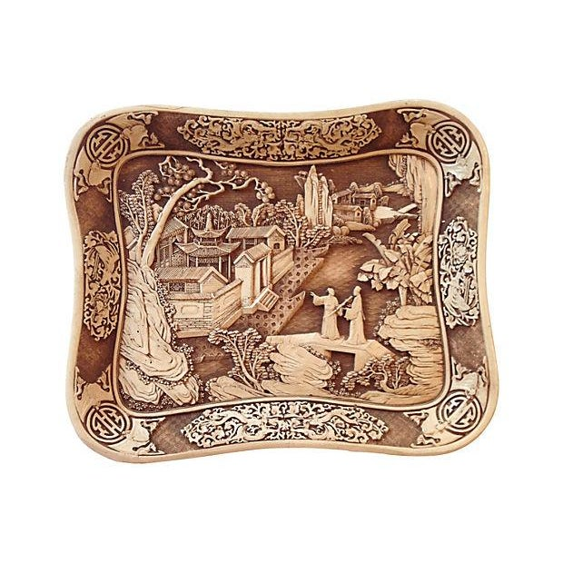 Image of Carved Chinoiserie Pagoda Tray