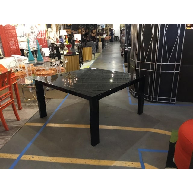 Calligaris Italian Black Lacquer Dining Table - Image 3 of 3