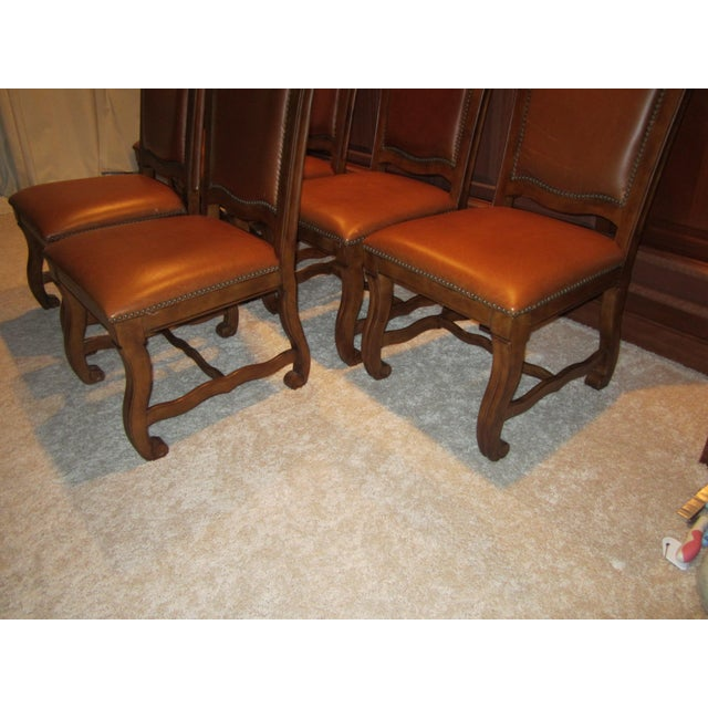 Stanley Leather Dining Chairs - Set of 6 - Image 9 of 11