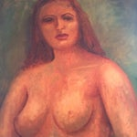 Image of Serkins Midcentury Nude Portrait Painting