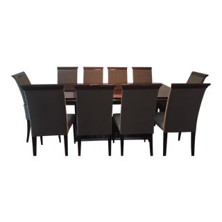 Contemporary Dining Table and Chairs - S/11