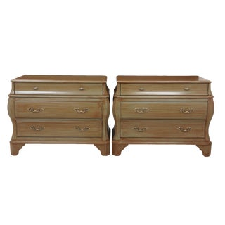 French Provencal Style Bombe Chests - a Pair