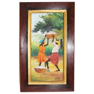 Original Haitian Painting by Deluy