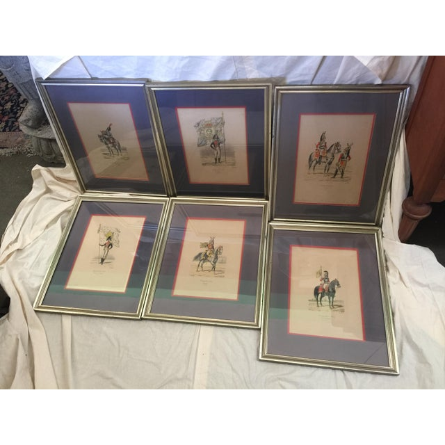 6 Matching Antique French Military Prints Hand Colored Eugene Titeux - Image 2 of 11