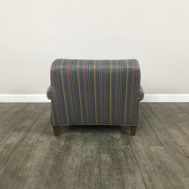 Image of Colorful Striped Club Chair