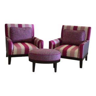 Accent Chairs & Ottoman - S/3