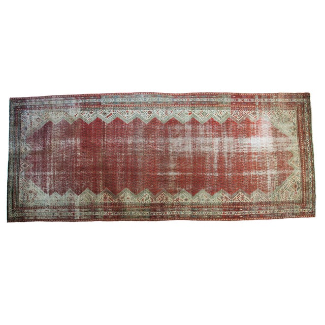 "Antique Persian Malayer Runner - 6'9"" x 15'10"" - Image 1 of 5"