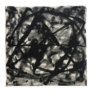 Small Black & White Abstract Painting