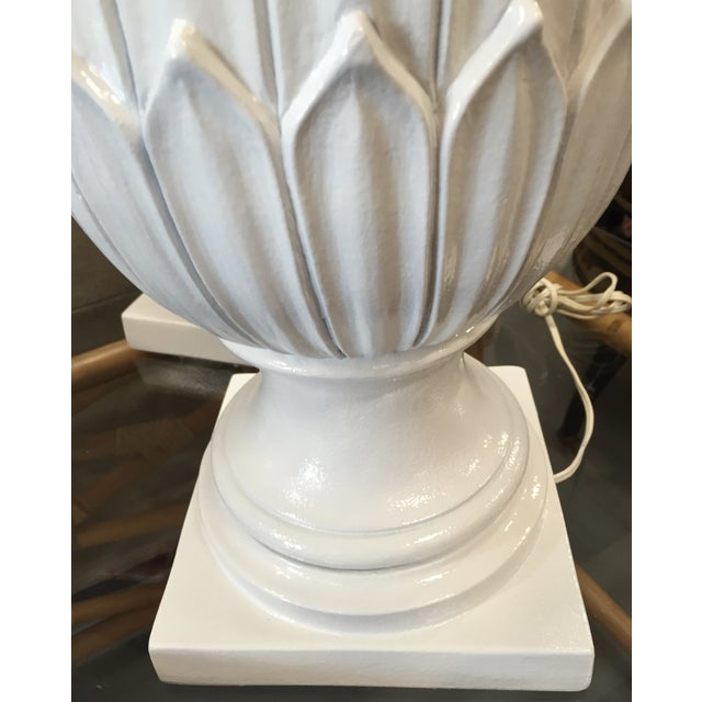 White Palm Beach Pineapple Table Lamps - A Pair - Image 3 of 5