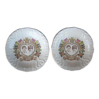 Pair of Staffordshire Commemorative Royal Wedding Plates