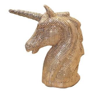Silver Studded Unicorn Head