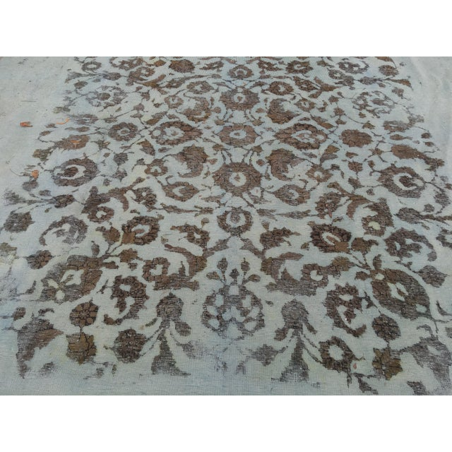 """Overdyed Distressed Persian Rug - 9' X 10'4"""" - Image 3 of 10"""
