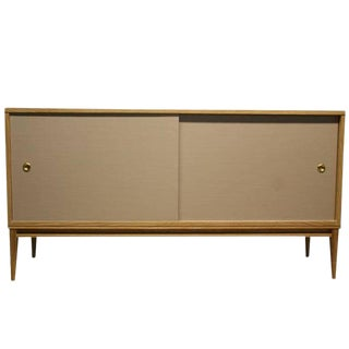 Bishop Lacquered Linen Door Console