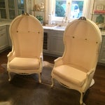 Image of Louis XV Style Porter Chairs - A Pair