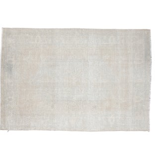 "Distressed Oushak Carpet - 5'8"" X 8'7"""