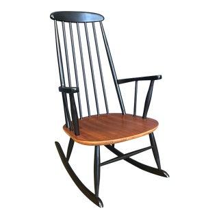 Danish Tapiovaara Style Rocking Chair