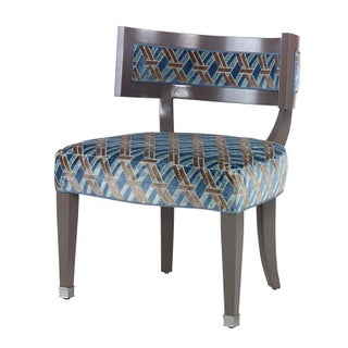 Kravet Blue & Brown Colin Chair
