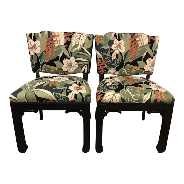 James Mont Inspired Side Chairs - A Pair - Image 1 of 9
