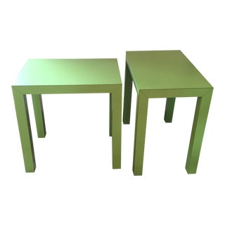 Green Parsons Side Tables- A Pair